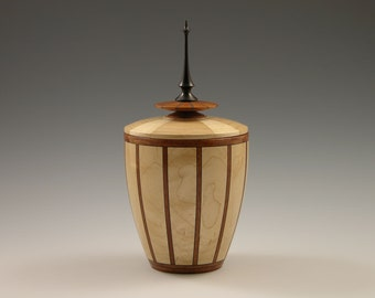 No. 334 - Cremation Urns, Cremation, Urns, Cremation Urn, Cremains Urn, Lidded Vessel, Wood, Woods, Woodworking, Arts and Crafts