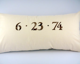 Custom Stenciled Pillow Covers-GREAT WEDDING gift idea, Shower Gift, Pillow Cover ONLY!