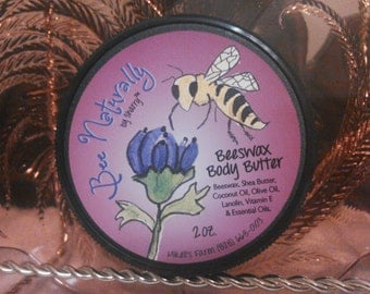 Body Butter Loaded with Shea Butter,Coconut Oil, Beeswax for cell rejuvenation; Organic & Natural. Pamper skin with Bee Naturally by Sharry!