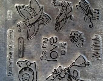 Adorable Bug and Snail Stamp Set - Ships Free