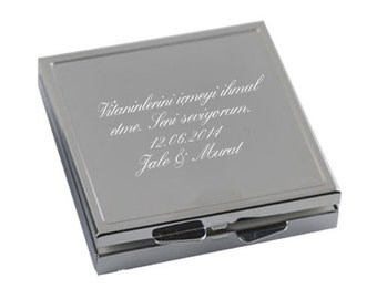 Metal Pill Box / Custom Engraved Name or Message