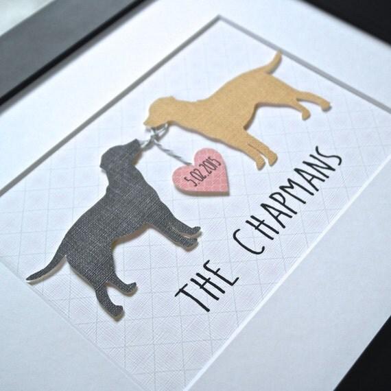 CUSTOM DOG Art Gift for Dog Lover Labrador Art Unique