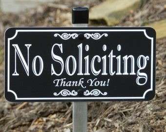 NO SOLICITING Lawn Sign - Free Shipping