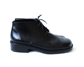 Women's Black Leather Ankle Boots  Minimalist Ankle Boots   EUR 38  UK 5  US 7,5
