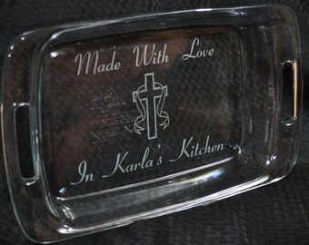 Christian Gift ~ Gift For Mom ~ Gift For Grandma ~ Engraved Baking Pan ~ Personalized Gift ~ Cross Gifts ~ Gift For Friend ~ Christian Gifts
