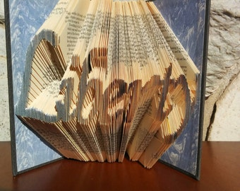 Liberty - Folded Book Art - Fully Customizable, Lawyer, Freedom