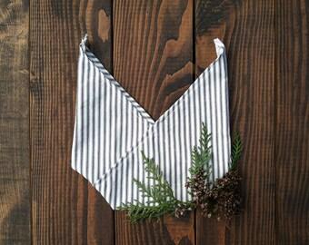 Blue Striped Bento Bag - Small
