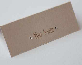 Ivory Place Card with diamantes