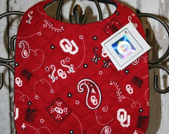 Officially licensed and approved OU Baby Bib....Licensed Crafter: MB2523