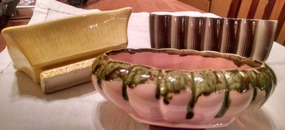 SALE   Vintage 1950's Choice of Small Pottery Planters  SALE!!!  was 9.50  now  7.50  SALE!!!