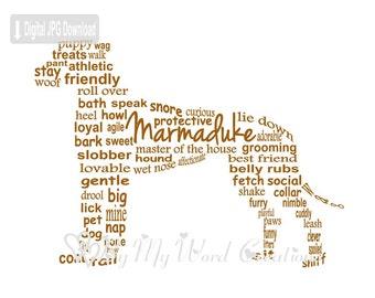 Great Dane Dog Art, Pet Art, Great Dane Dog Word Art, Dog Art, Pet Keepsake, Personalized Word Art Typography, PRINTABLE DIGITAL FILE