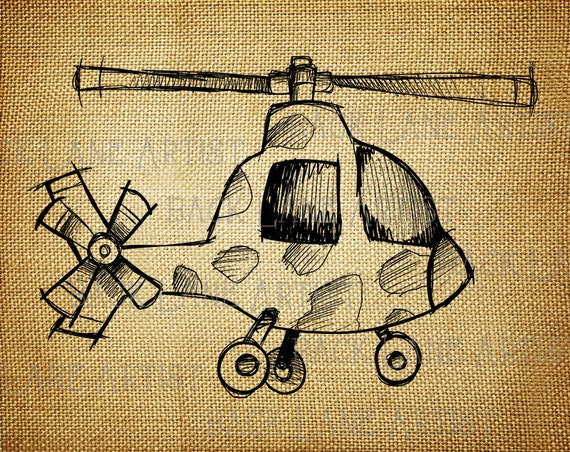 Line Drawing Etsy : Vintage helicoptere airplane clipart lineart illustration