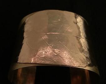 Brass Leaf Cuff Bracelet