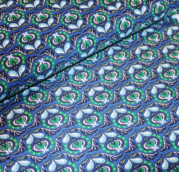 Sale 40 Off Cool Cords Blue And Green Floral Print By Ann