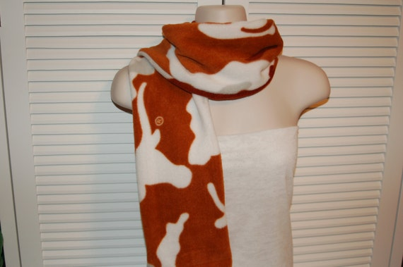 Texas Longhorn Camo Fleece Scarf Orange Longhorn Scarf Orange