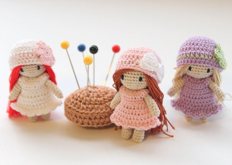 Amigurumi Mini Doll : Micro mini doll crochet amigurumi custom by pinkmouseboutique