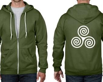 Celtic Spiral Full Zip Hoodie