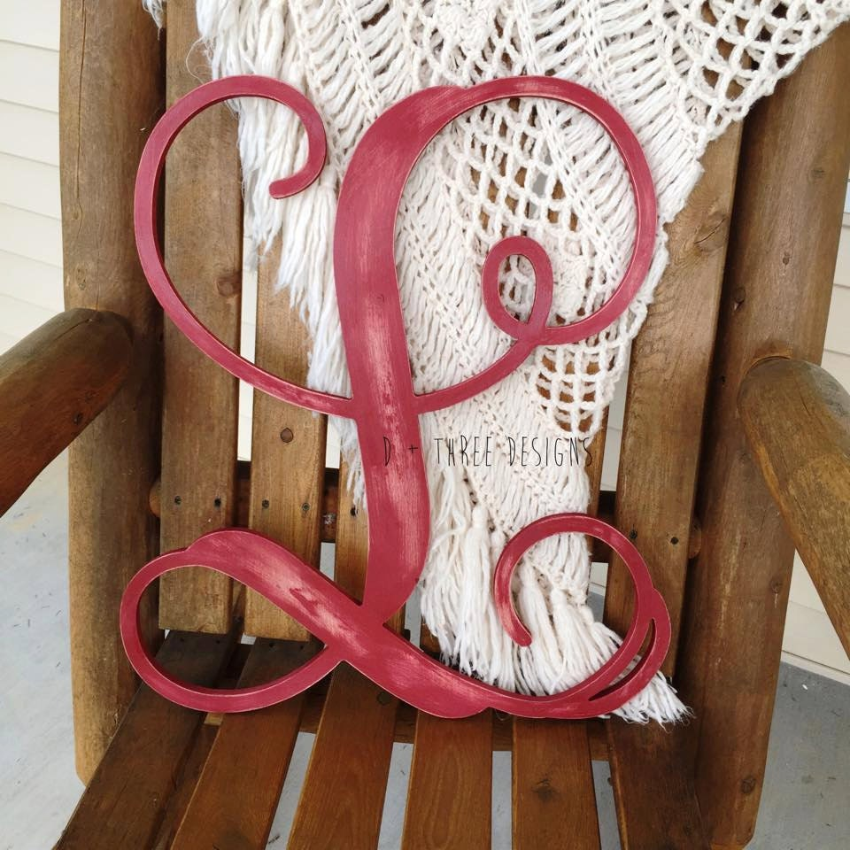 14 Inch Wooden Monogram Painted Wooden Letters Monogram