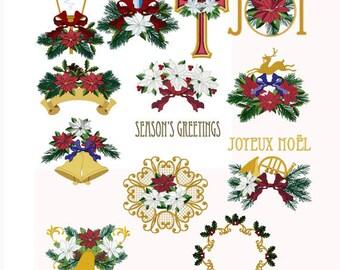 Fleur de Noël Poinsettia Christmas Set