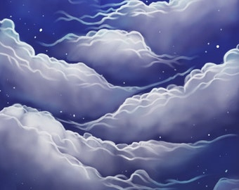 Night time clouds