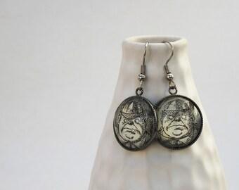 Tweedle Dee and Tweedle Dum earrings