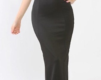 Long Strapless Black Gown (SALE!!!)