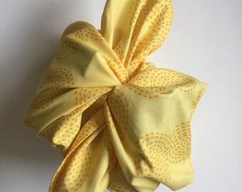 Cloth Lunch Bag- Mixed Bag, Yellow