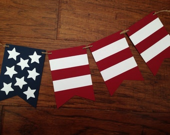 Red White and Blue Patriotic Flag Banner