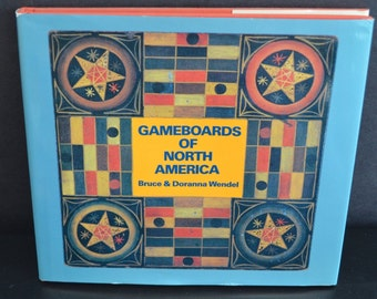 Gameboards of North America HC Book 1st Edition Folk Art Collecting