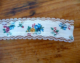 Vintage Floral and Lace Novelty Ribbon