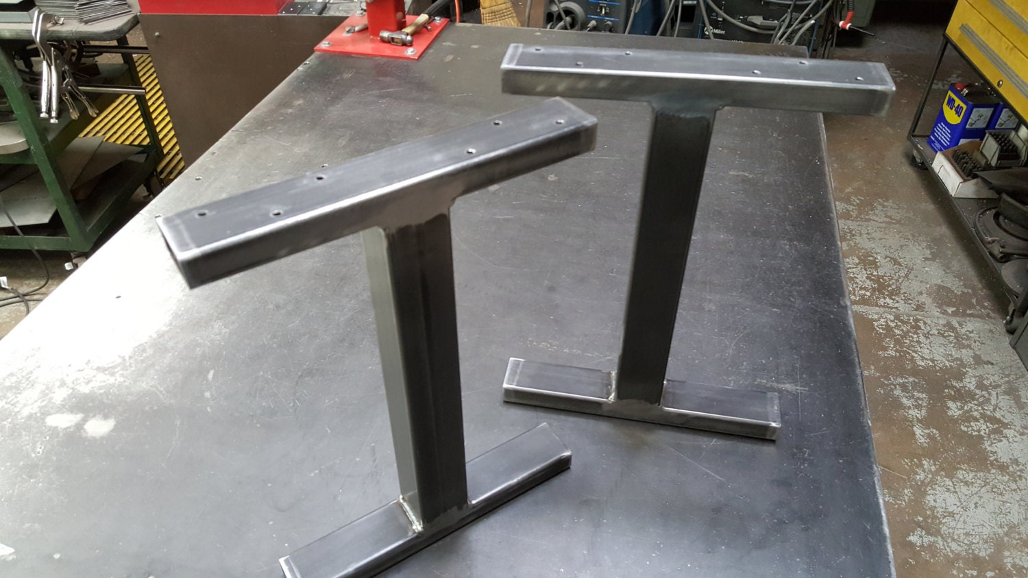 Industrial T Legs Model Btt06 Bench Table Metal Legs End Table Legs 3 X 1 Tubing Set Of 2 Legs