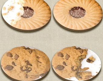 Biscuit Coaster - Jammie dodger or Chocolate cookie