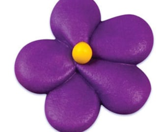 Royal Icing Flower Blossom Purple (10 Pieces)