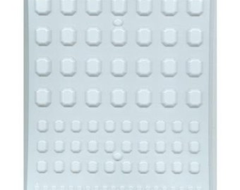 RECTANGLE ASSORTED GEMS Hard Candy Mold
