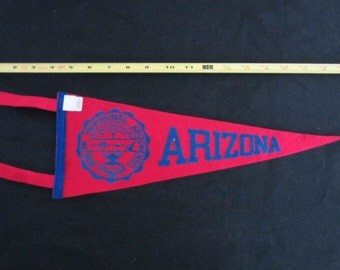 Vintage Felt Pennant -  Arizona University