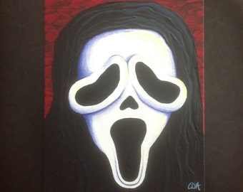 Ghost Face - Scream : Acrylic Painting
