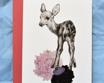 Baby Deer / Fawn A6 Greeting Card