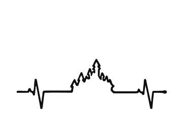 Disney Heartbeat with Castle Vinyl Car Decal