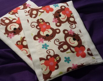 Homemade Burp Cloths made from 100% Cotton Prefolded Diapers