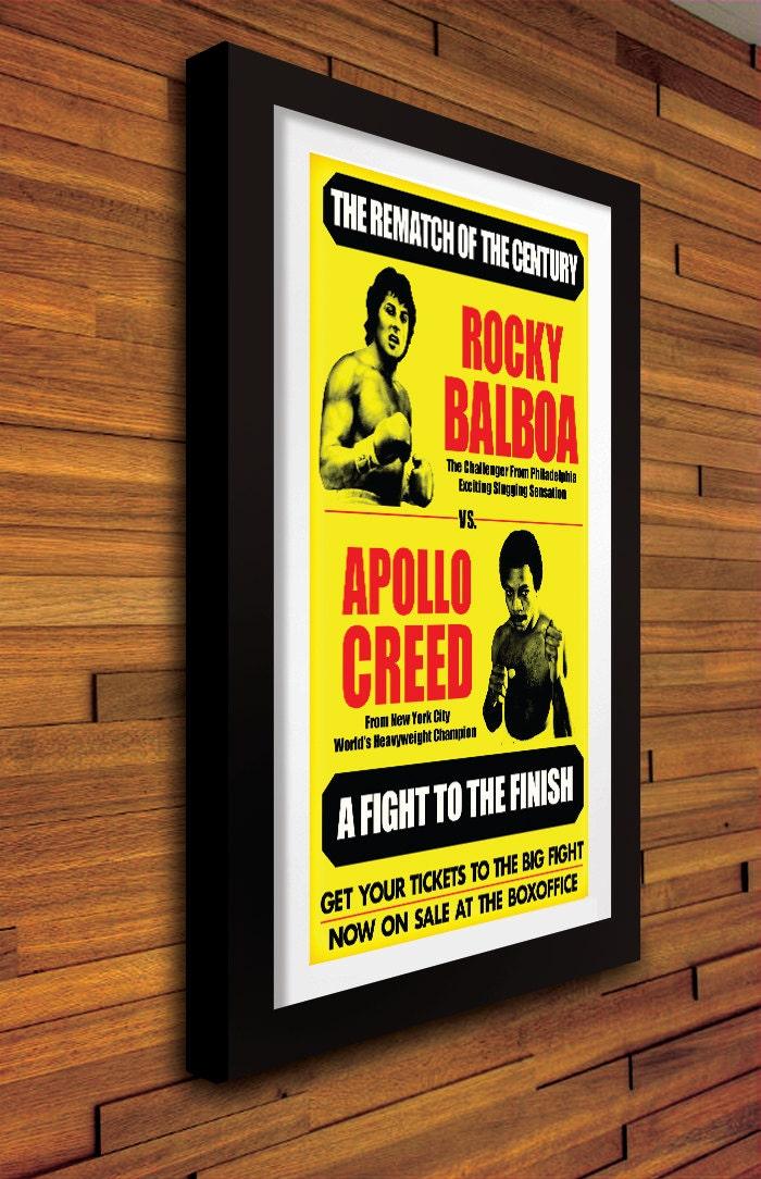Rocky Balboa Vs Apollo Creed Vintage Boxing Poster