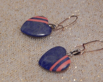 Now on clearance, only two dollars! Heart shaped painted stone earrings