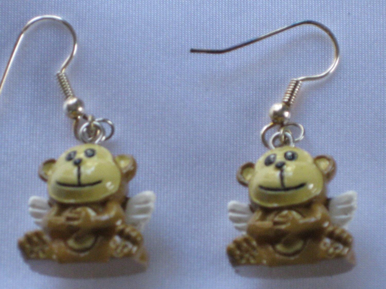 monkey earrings monkey with banana sitting monkey