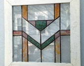 Handcrafted Prairie Mission Design Stained Glass Window
