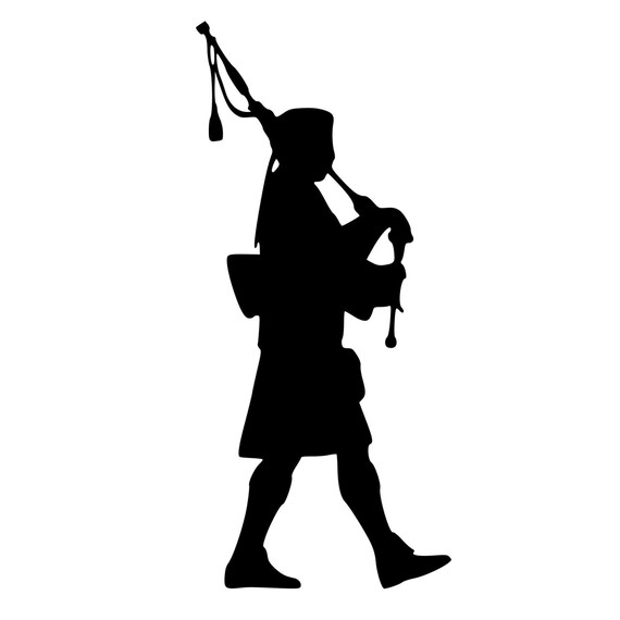 Bagpipe Scottish Piper Die Cut Decal Car Window Wall Bumper