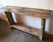 Primitive Entryway Table, Rustic Entryway Table, Primitive Handmade Table, Rustic Handmade Table, Handcrafted Entryway Table