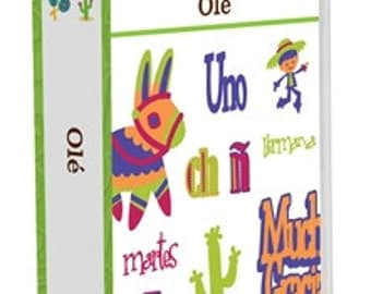 Cricut Cartrige OLE.  Words & Phrases is Spanish.  Perfect for your Fiesta--Factory Sealed and Ready to ship