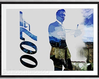 007 James Bond  Poster Wall Decor Birthday Gift