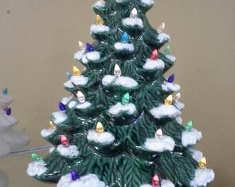 """DIY-Ready to Paint, 9"""" Traditional Ceramic Christams Tree, Unfinished,Finished, (See Options and Description)"""