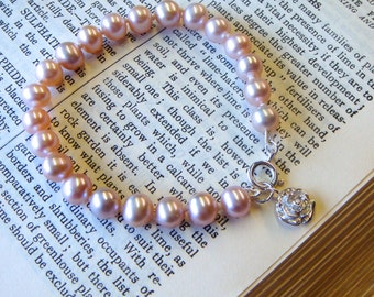 Pearl and Rose Bracelet