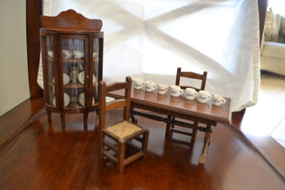 dollhouse furniture dining room set by finnsdoghouse on etsy